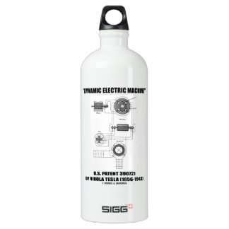 Dynamic Electric Machine U.S. Patent Nikola Tesla Water Bottle