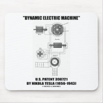Dynamic Electric Machine US Patent 390721 By Tesla Mouse Pads