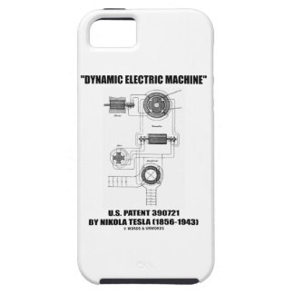 Dynamic Electric Machine US Patent by Nikola Tesla iPhone SE/5/5s Case