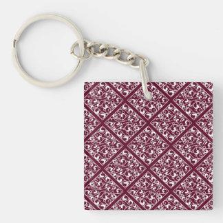 Dynamic Electrifying Brave Sensitive Single-Sided Square Acrylic Keychain