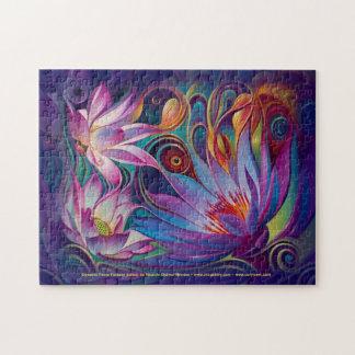 Dynamic Floral Fantasy (Lotus) Puzzle