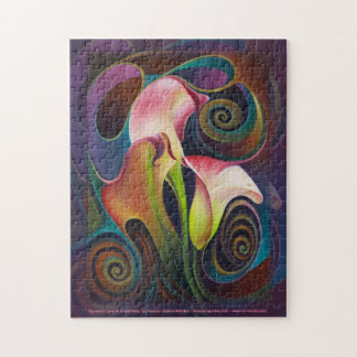 Dynamic Floral IV (Calalillies) Puzzle
