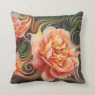 Dynamic Floral IV (Roses) Pillow