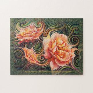 Dynamic Floral V (Roses) Puzzle