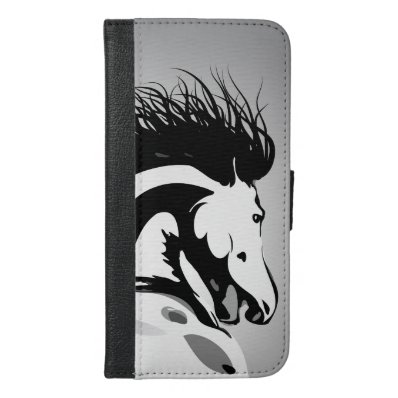 dynamic horse illustration iPhone 6/6S plus wallet case