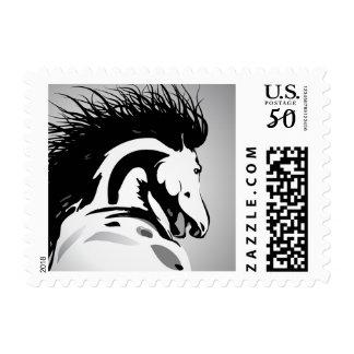 dynamic horse illustration postage