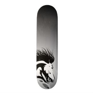dynamic horse illustration skateboard deck