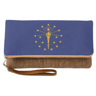 Dynamic Indiana State Flag Graphic on a Clutch