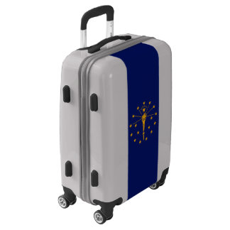 Dynamic Indiana State Flag Graphic on a Luggage