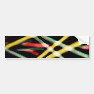 Dynamic Lines Abstract Background Car Bumper Sticker