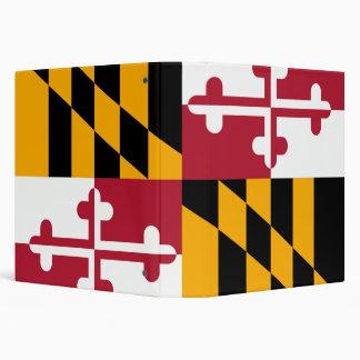 Dynamic Maryland State Flag 3 Ring Binder