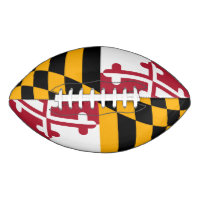 Dynamic Maryland State Flag Graphic on a Football