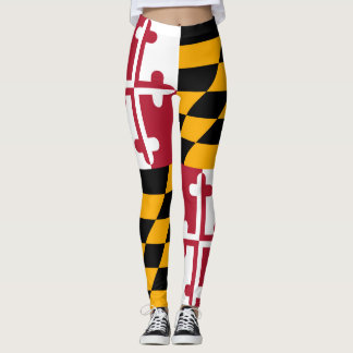 Dynamic Maryland State Flag Graphic on a Leggings