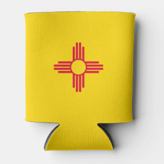 Dynamic New Mexico State Flag Graphic on a Can Cooler
