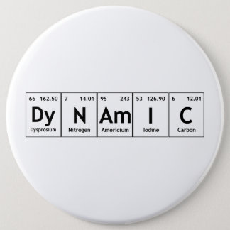 DyNAmIC Periodic Table Element Word Chemistry Atom Button
