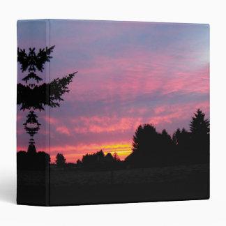 Dynamic Pink Sunset Binder