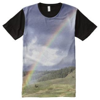 Dynamic Rainbow All-Over Print T-shirt