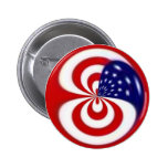 Dynamic Red White and Blue 2 Inch Round Button