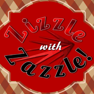 Dynamic Red Zizzle With Zazzle Pillow