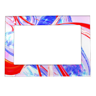 Dynamic Satin Abstract Magnetic Frame