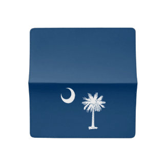 Dynamic South Carolina State Flag Graphic on a Checkbook Cover