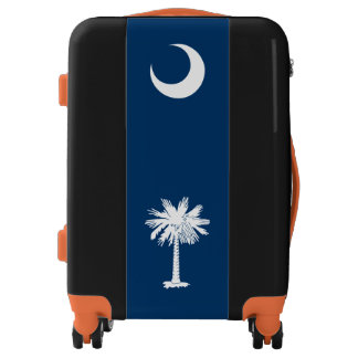 Dynamic South Carolina State Flag Graphic on a Luggage