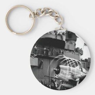 Dynamic static.  The motion of its props_War Image Keychain