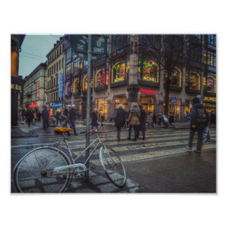 Dynamic Stockholm street view Poster