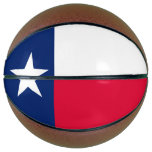 Dynamic Texas State Flag Graphic on a Basketball