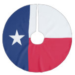 Dynamic Texas State Flag Graphic on a Brushed Polyester Tree Skirt