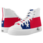 Dynamic Texas State Flag Graphic on a High-Top Sneakers