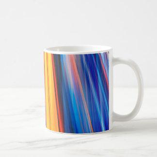Dynamic yellow light beams coffee mug