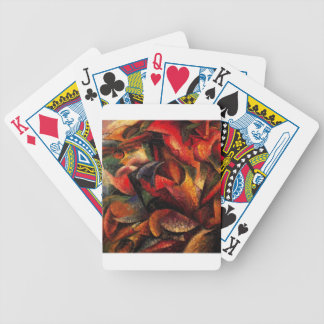 Dynamism of a Human Body by Umberto Boccioni Bicycle Playing Cards