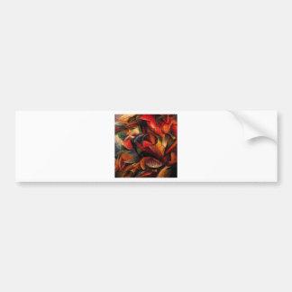 Dynamism of a Human Body by Umberto Boccioni Car Bumper Sticker