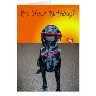 Dynamite Birthday Greeting Card