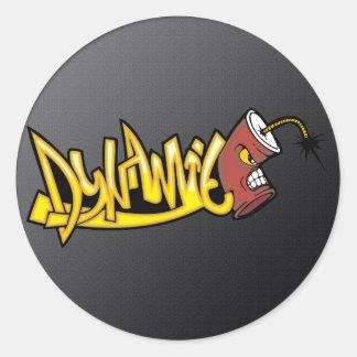 Dynamite Classic Round Sticker