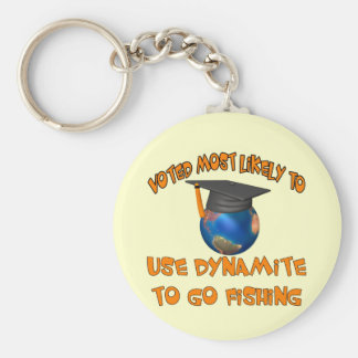 Dynamite Fishing Keychain