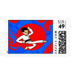 Dynamite Martial Artist Postage Stamps