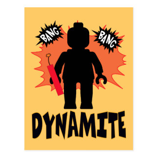 Dynamite Minifig by Customise My Minifig Postcard