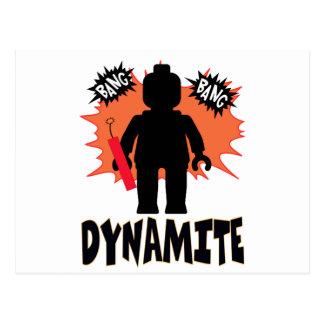 Dynamite Minifig by Customize My Minifig Postcard