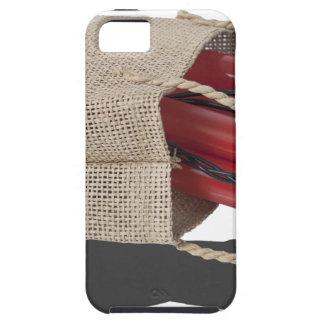 DynamiteInBurlapBag081614 copy.png iPhone SE/5/5s Case