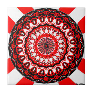Dynasty Red and White Tile