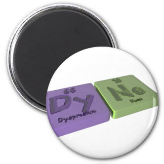 Dyne as Dy Dysprosium and Ne Neon 2 Inch Round Magnet