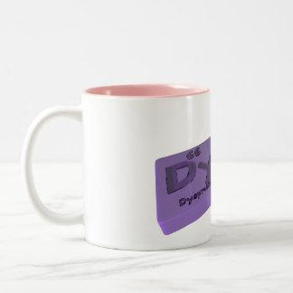 Dyne as Dy Dysprosium and Ne Neon Two-Tone Coffee Mug