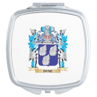 Dyne Coat of Arms - Family Crest Makeup Mirrors