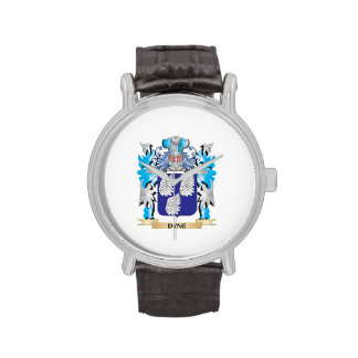 Dyne Coat of Arms - Family Crest Wrist Watch
