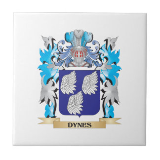 Dynes Coat of Arms - Family Crest Ceramic Tile