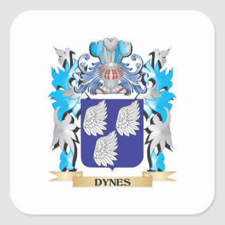 Dynes Coat of Arms - Family Crest Square Stickers
