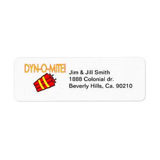 Dynomite Dynamite Return Address Label