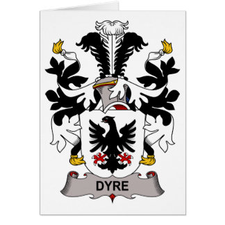 Dyre Family Crest Greeting Card